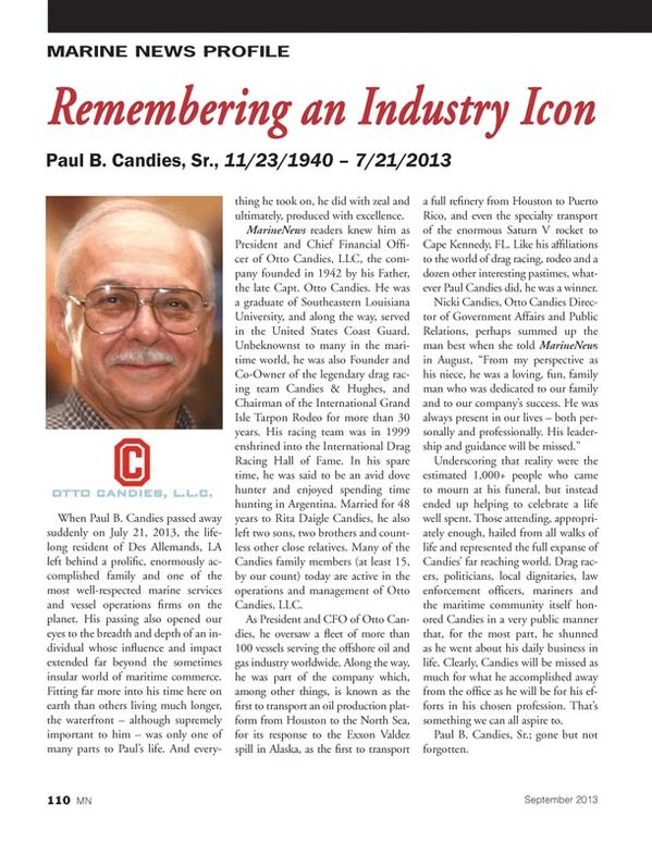 Marine News Magazine, page 110,  Sep 2013