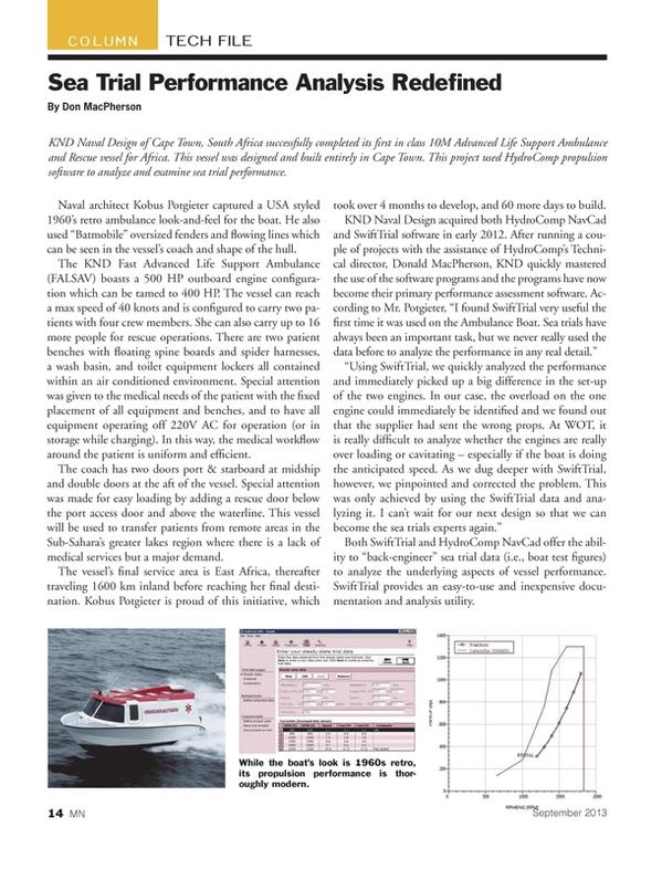 Marine News Magazine, page 14,  Sep 2013