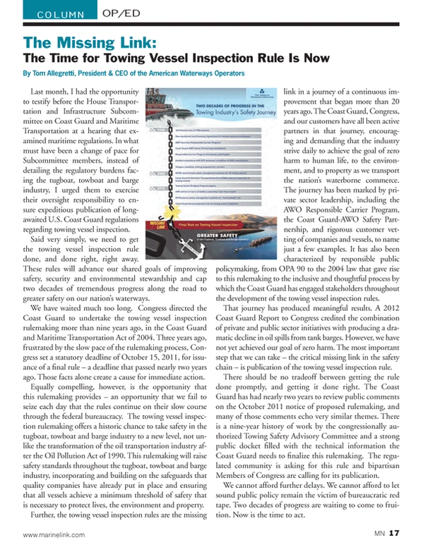 Marine News Magazine, page 17,  Oct 2013