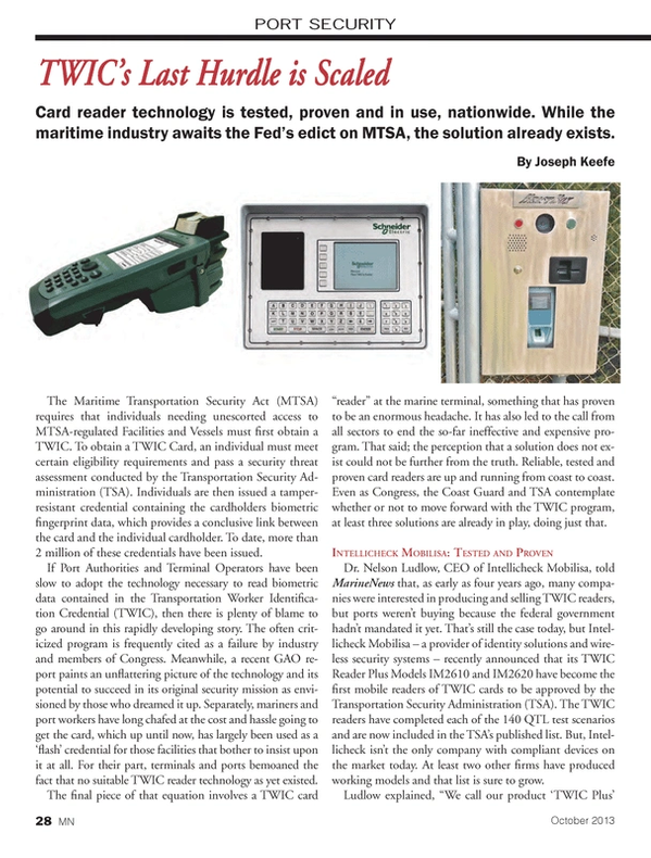 Marine News Magazine, page 28,  Oct 2013