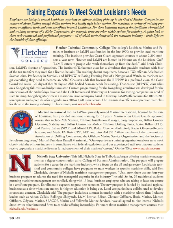 Marine News Magazine, page 36,  Oct 2013 International Association of Drilling Contractors
