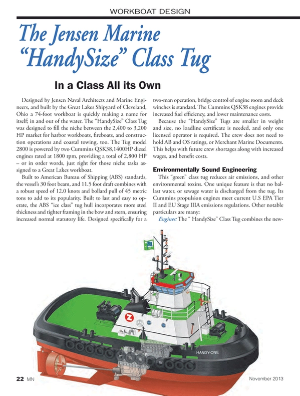 Marine News Magazine, page 22,  Nov 2013