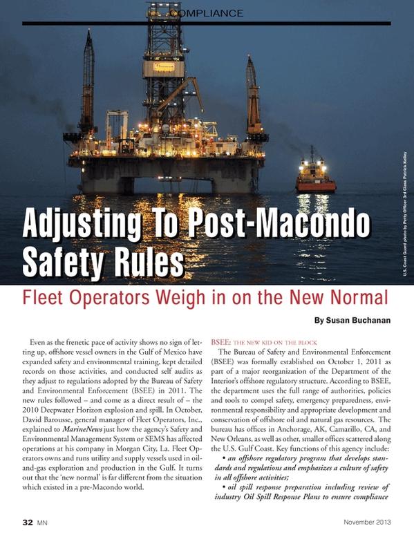 Marine News Magazine, page 32,  Nov 2013 Alaska