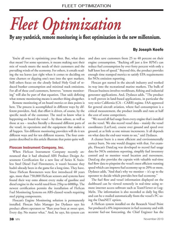 Marine News Magazine, page 38,  Nov 2013 Environmental Protection Agency
