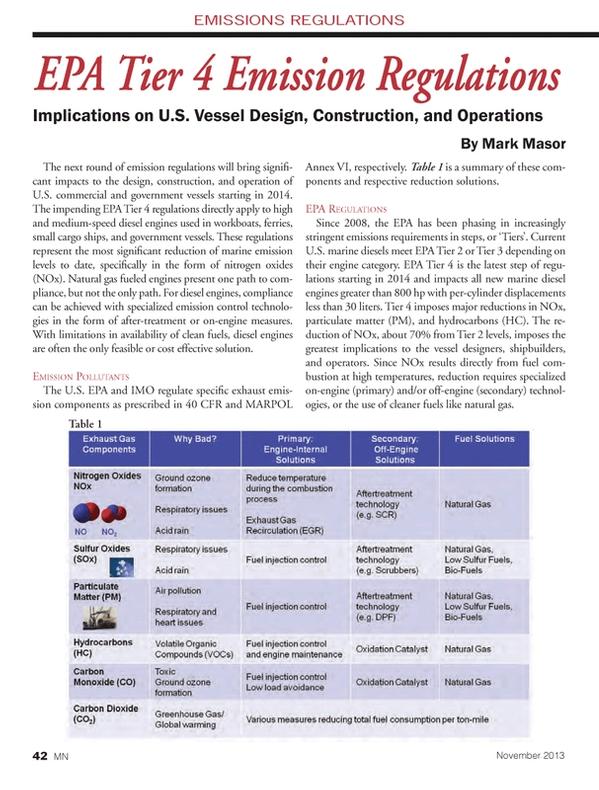 Marine News Magazine, page 42,  Nov 2013 respective reduction solutions