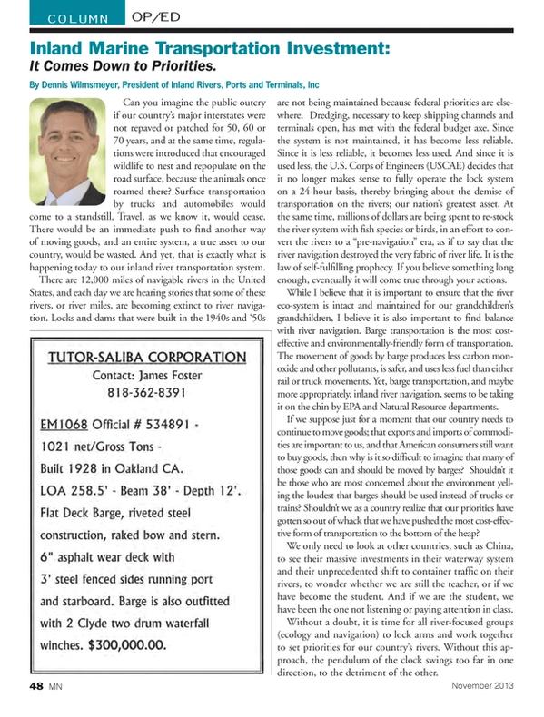 Marine News Magazine, page 48,  Nov 2013