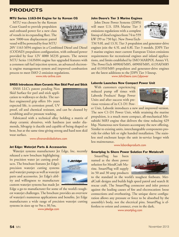 Marine News Magazine, page 54,  Nov 2013