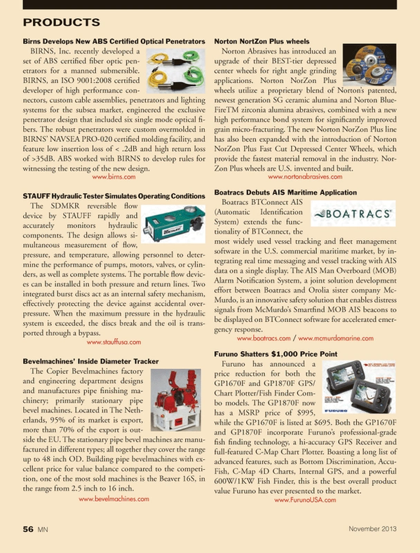 Marine News Magazine, page 56,  Nov 2013
