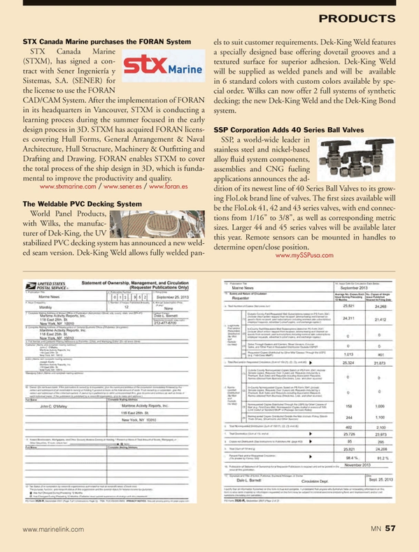 Marine News Magazine, page 57,  Nov 2013