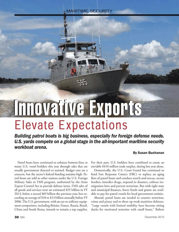 Marine News Magazine, page 30,  Dec 2013