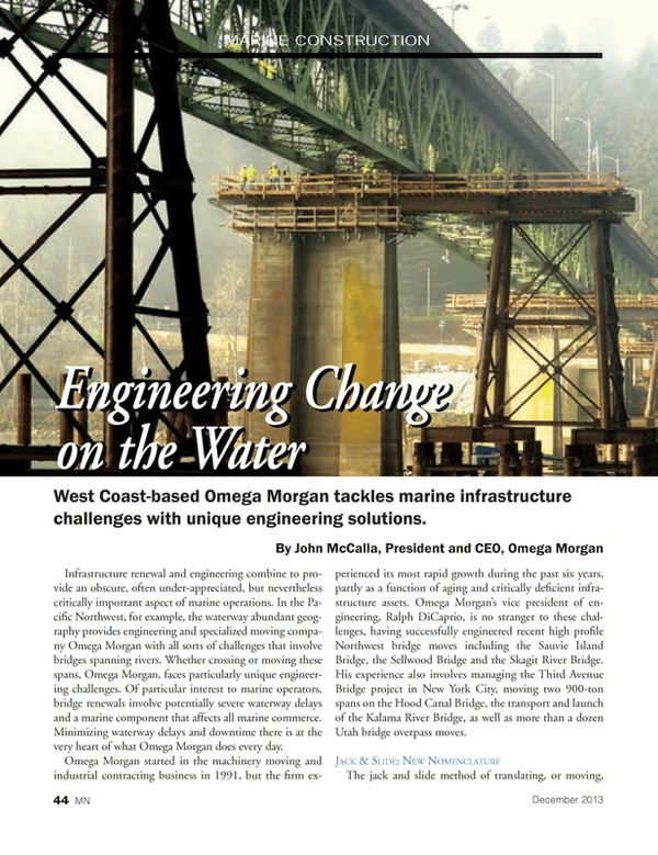 Marine News Magazine, page 44,  Dec 2013