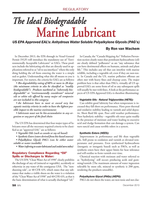 Marine News Magazine, page 50,  Dec 2013