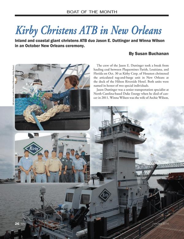 Marine News Magazine, page 26,  Jan 2014