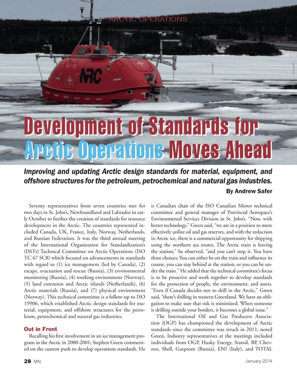Marine News Magazine, page 28,  Jan 2014 Front
