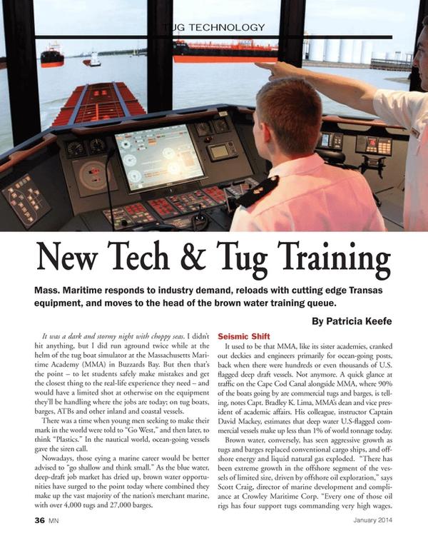 Marine News Magazine, page 36,  Jan 2014 Patricia Keefe