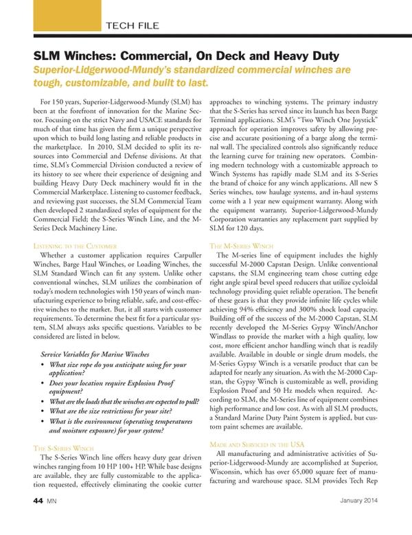 Marine News Magazine, page 44,  Jan 2014