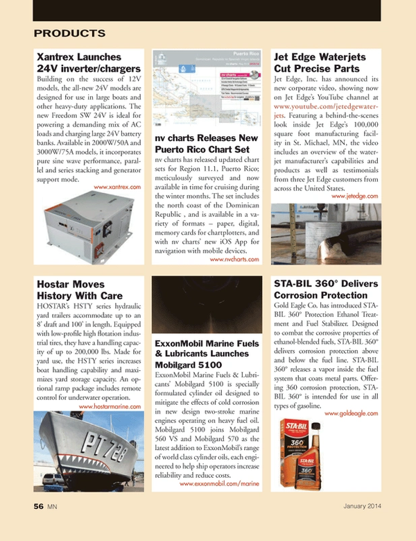 Marine News Magazine, page 56,  Jan 2014 metal parts