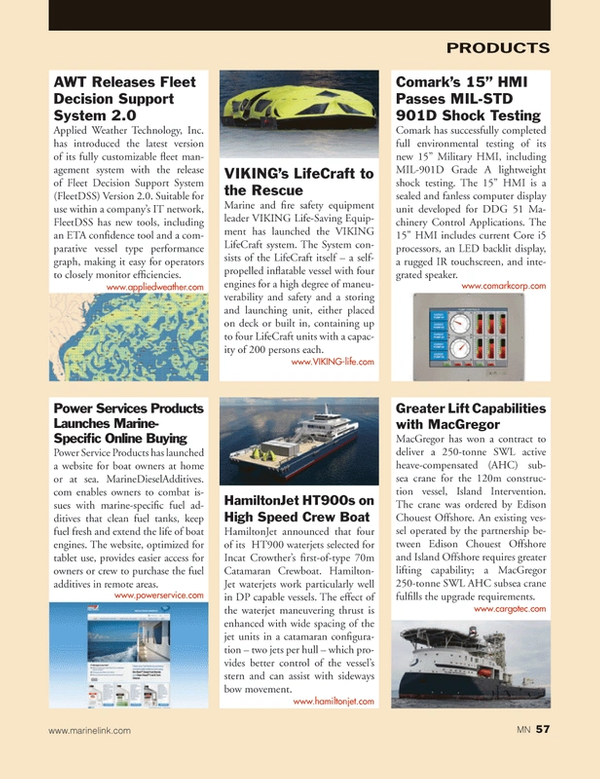 Marine News Magazine, page 57,  Jan 2014