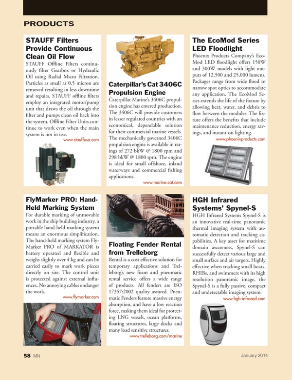 Marine News Magazine, page 58,  Jan 2014