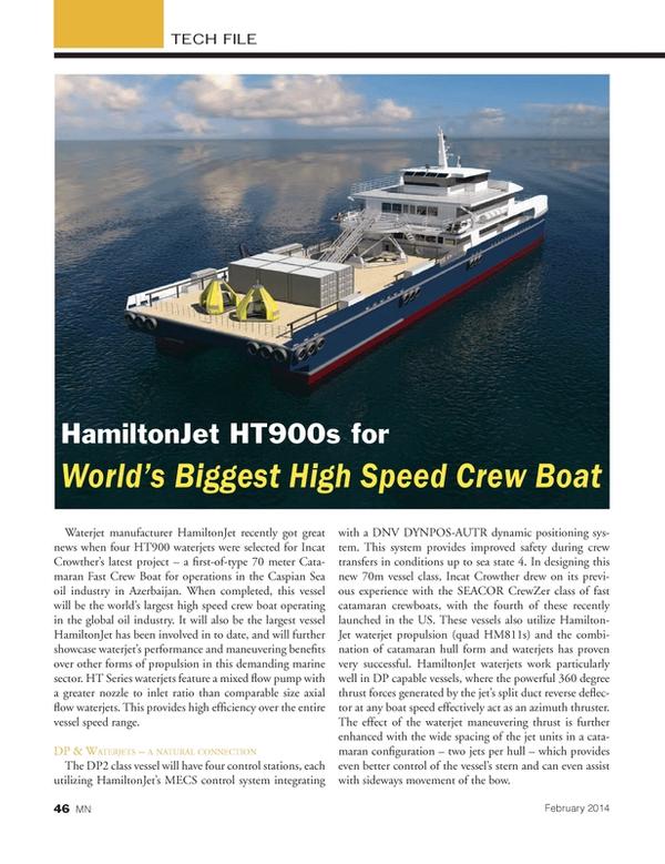 Marine News Magazine, page 46,  Feb 2014 United States