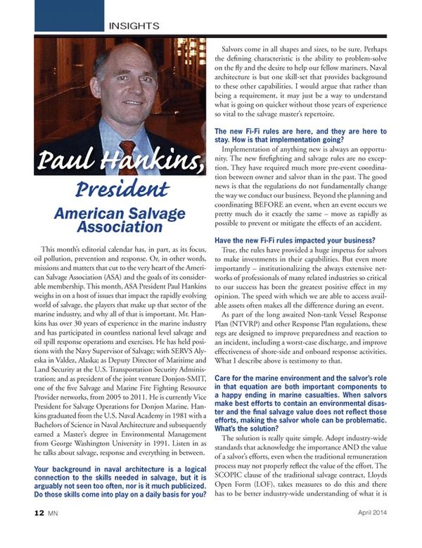 Marine News Magazine, page 12,  Apr 2014