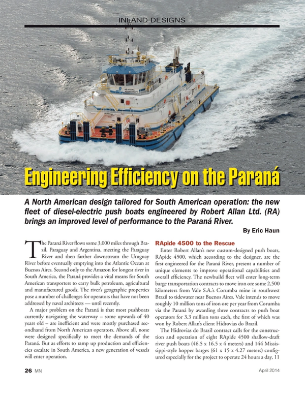 Marine News Magazine, page 26,  Apr 2014 Uruguay river