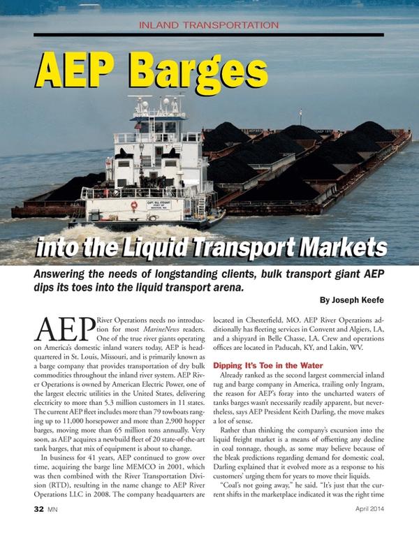 Marine News Magazine, page 32,  Apr 2014 Missouri