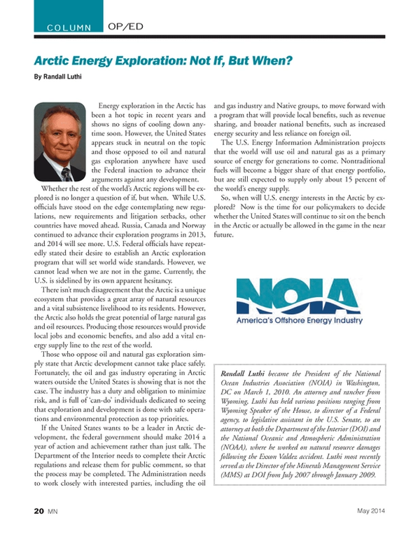 Marine News Magazine, page 20,  May 2014 U.S. Energy Information Administration