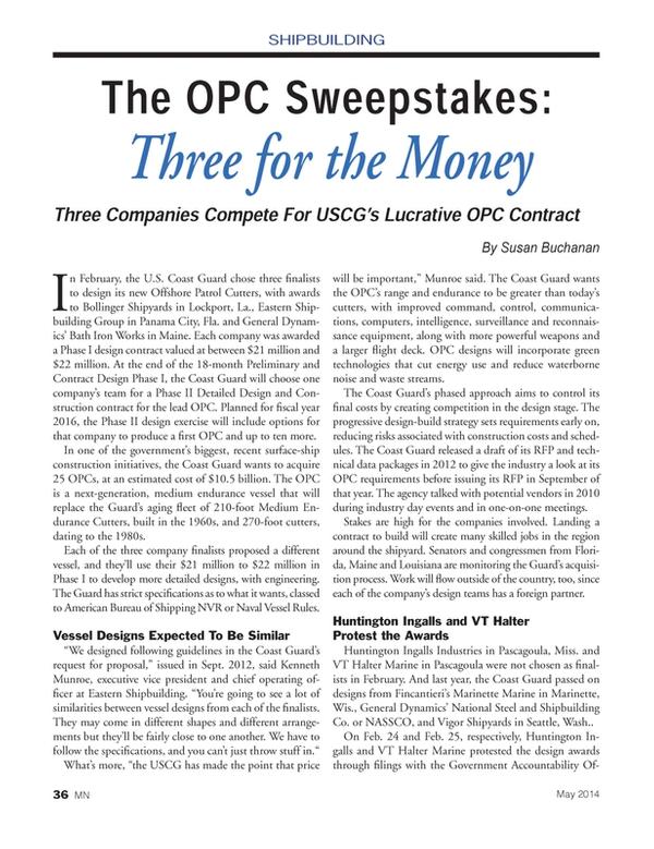 Marine News Magazine, page 36,  May 2014 Louisiana