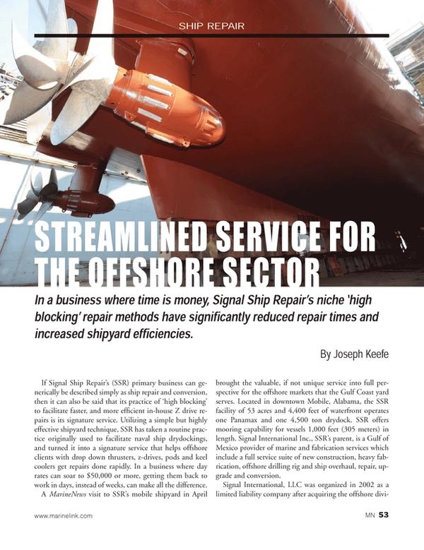 Marine News Magazine, page 53,  May 2014
