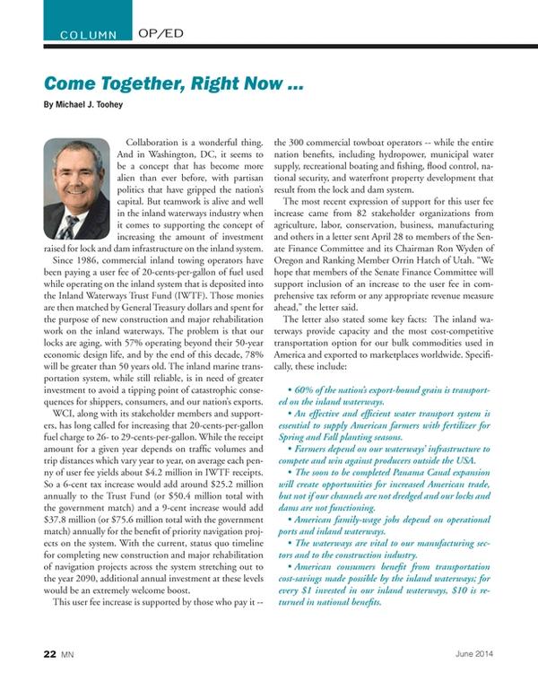 Marine News Magazine, page 22,  Jun 2014