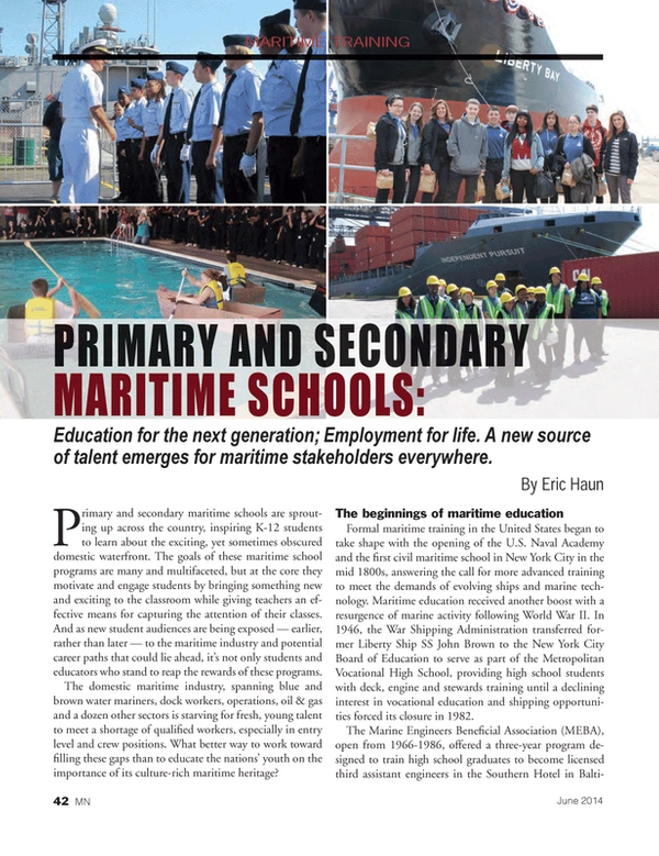 The Rise of Primary and Secondary Maritime Schools