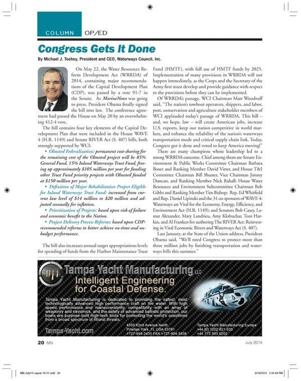 Marine News Magazine, page 20,  Jul 2014 Al Franken