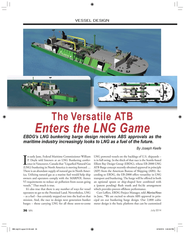 Marine News Magazine, page 36,  Jul 2014 Curt Leffers