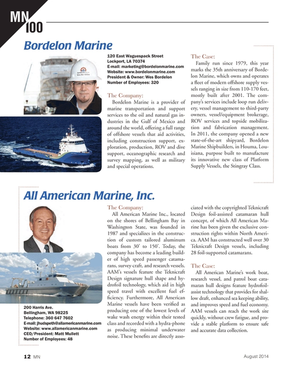 Marine News Magazine, page 12,  Aug 2014