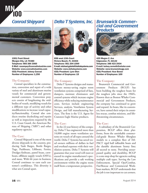 Marine News Magazine, page 16,  Aug 2014