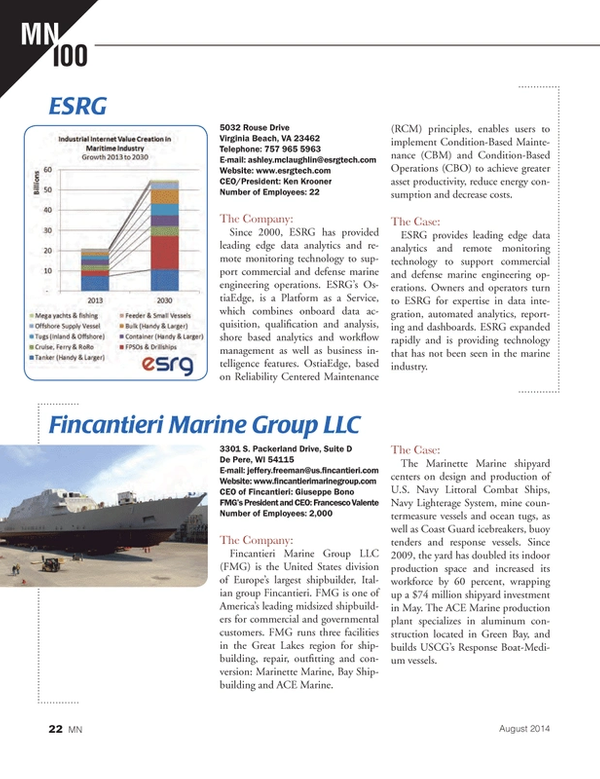 Marine News Magazine, page 22,  Aug 2014