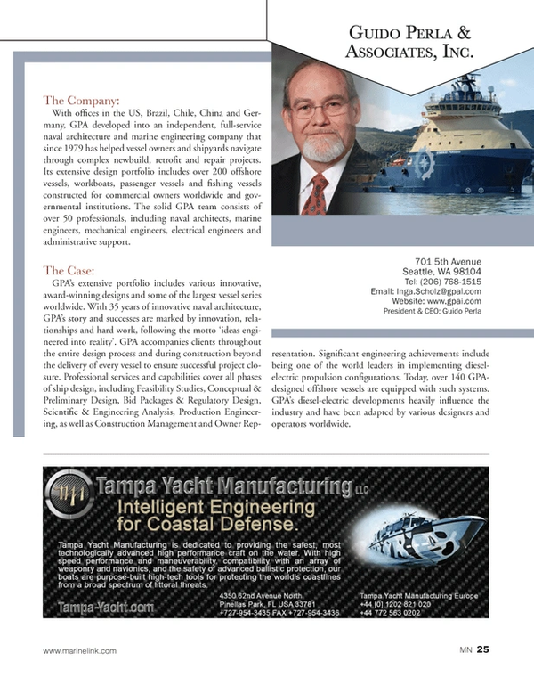 Marine News Magazine, page 25,  Aug 2014