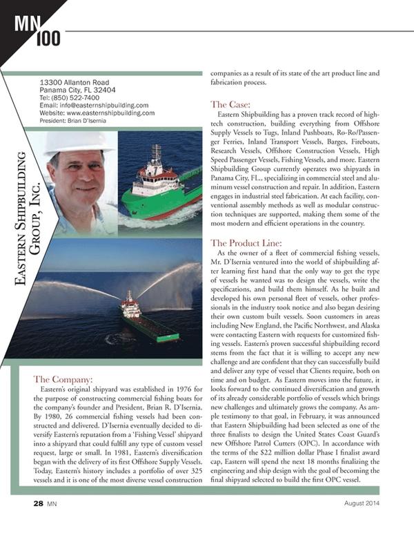 Marine News Magazine, page 28,  Aug 2014
