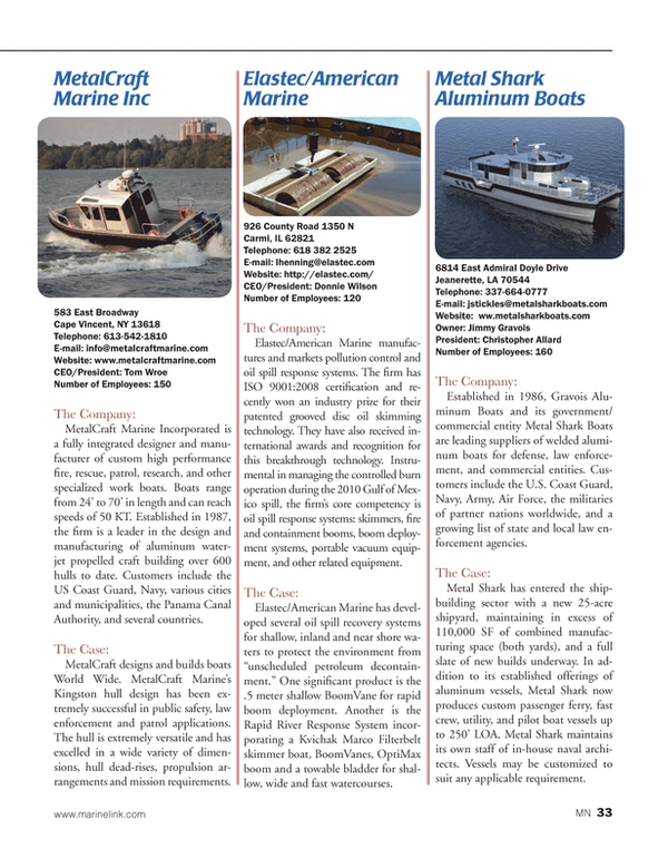 Marine News Magazine, page 33,  Aug 2014