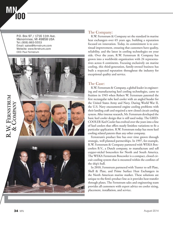 Marine News Magazine, page 34,  Aug 2014