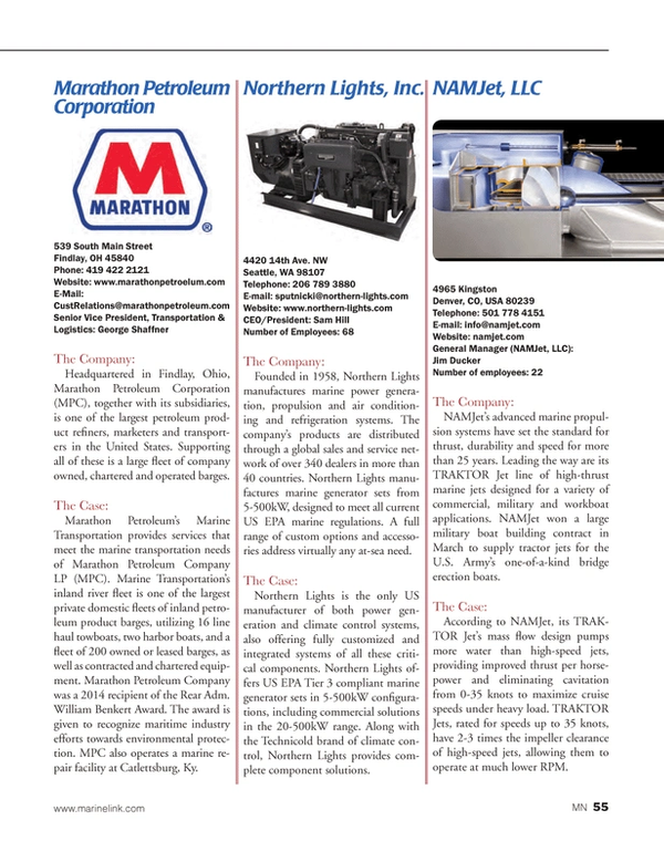 Marine News Magazine, page 55,  Aug 2014