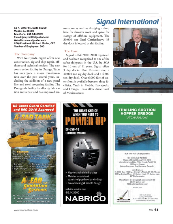 Marine News Magazine, page 61,  Aug 2014