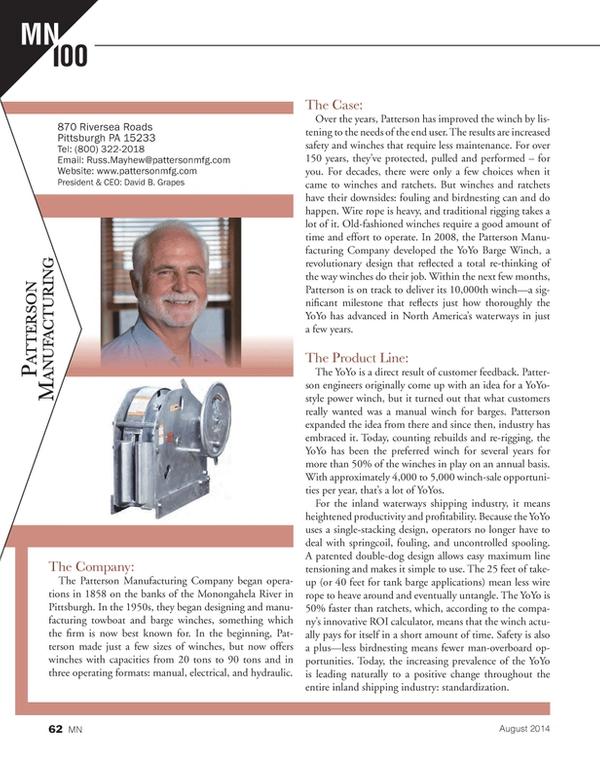 Marine News Magazine, page 62,  Aug 2014