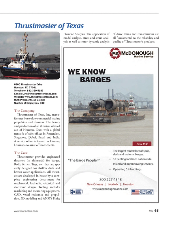 Marine News Magazine, page 65,  Aug 2014