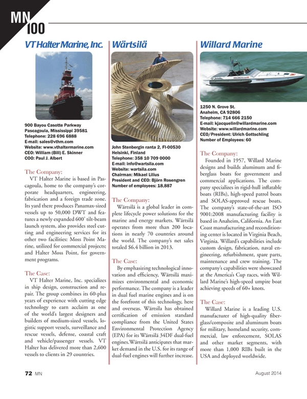 Marine News Magazine, page 72,  Aug 2014