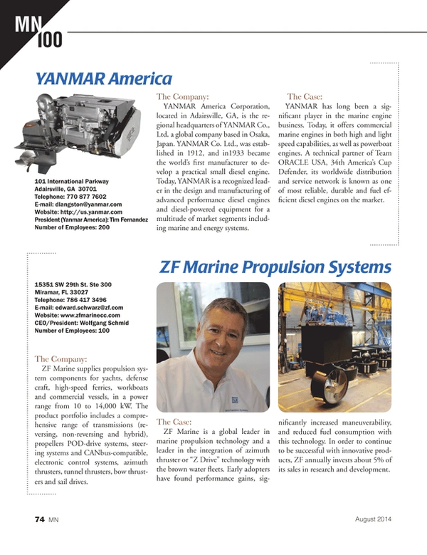 Marine News Magazine, page 74,  Aug 2014