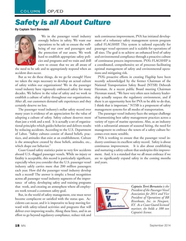 Marine News Magazine, page 18,  Sep 2014