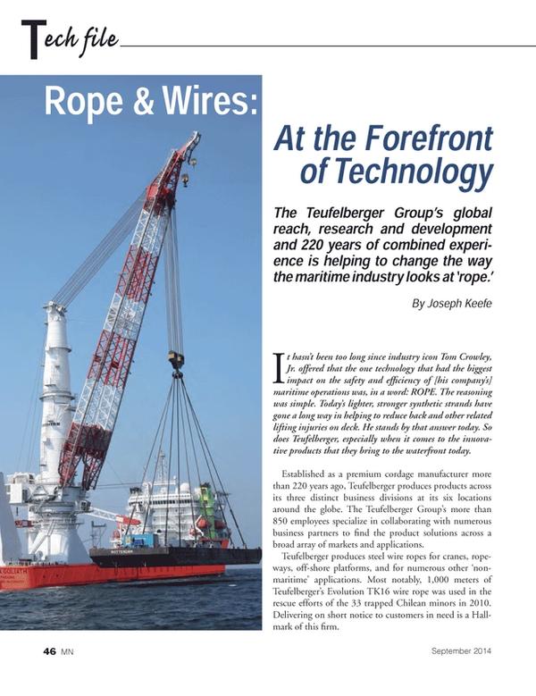 Marine News Magazine, page 46,  Sep 2014