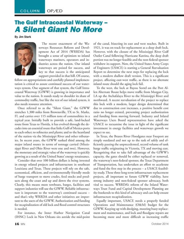 Marine News Magazine, page 16,  Oct 2014